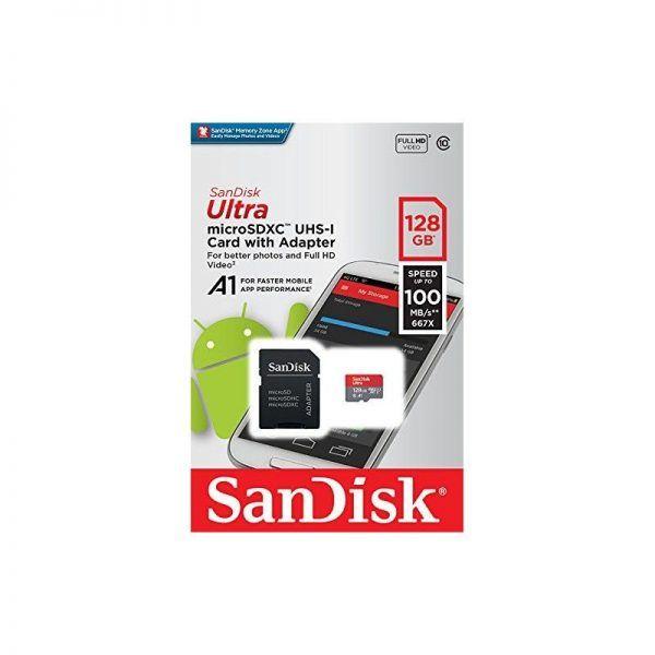 کارت SanDisk 128GB 100MB/s C10 Ultra microSDHC UHS-I