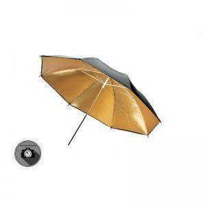 چتر مشکی داخل طلایی S$S مدل 90cm s31