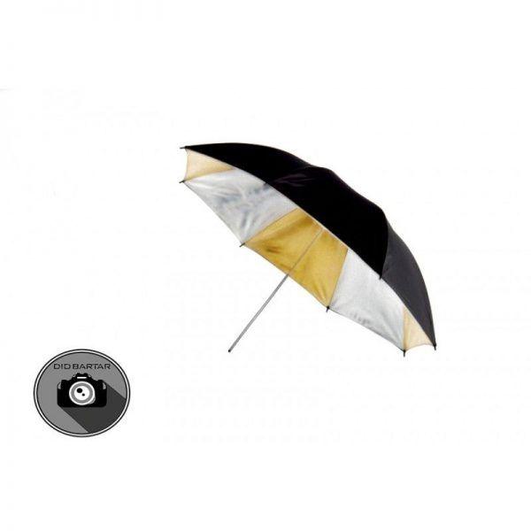 چتر مشکی نقره ای طلایی S&S مدل 90cm s39