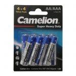 خرید باتری قلمی و نیم قلمی کملیون مدل Super Heavy Duty بسته 8 عددی