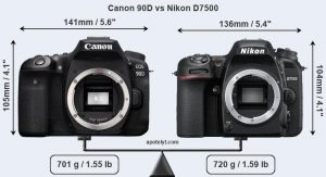 مقایسه دوربین Canon 90D vs Nikon D7500